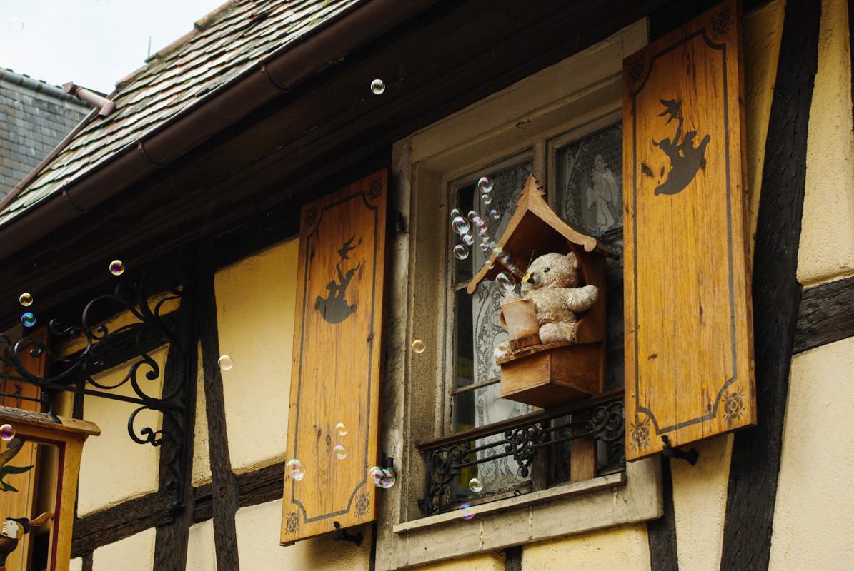 maison à colombages décorée - Kaysersberg