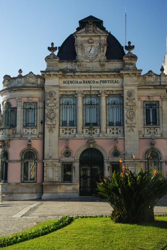 batiment de la banque du Portugal à Coimbra