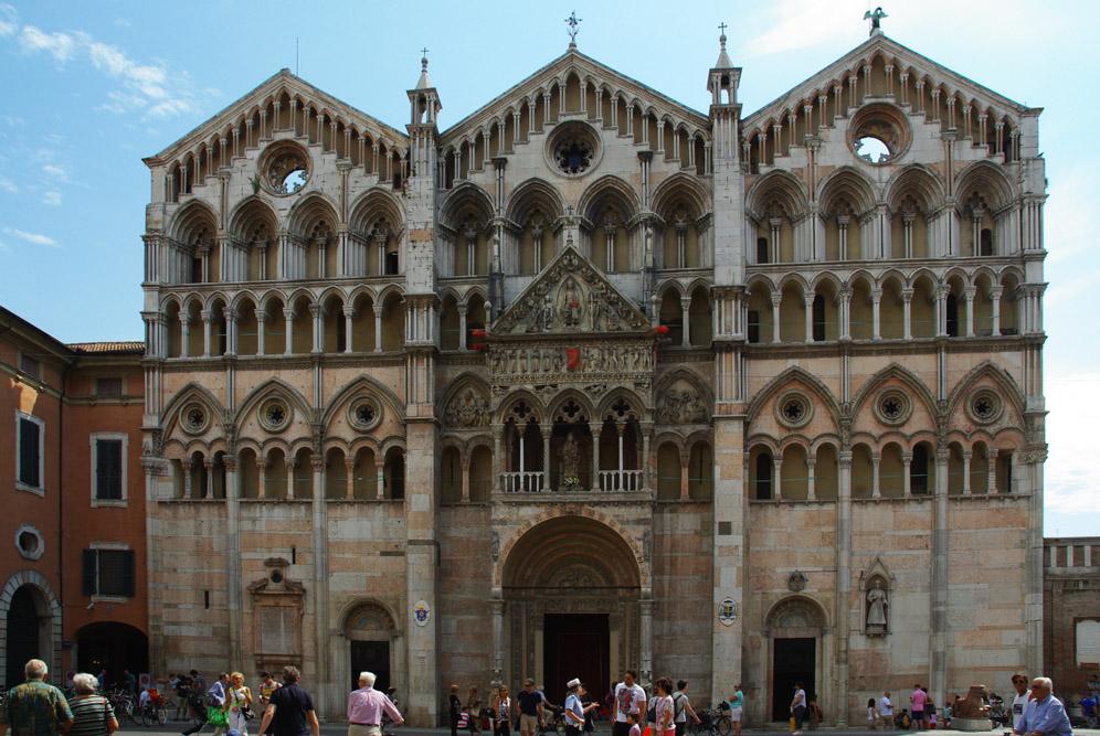 Façade de la cathédrale de Ferrare