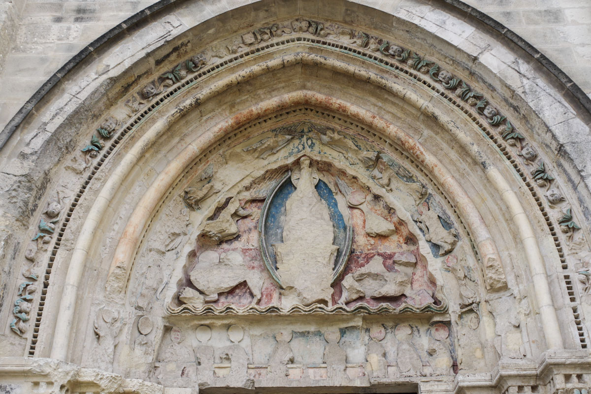 Fronton de l'église Saint Pierre des Minimes - Compiègne