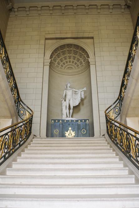 escalier d'apolon - bibliothèque - château de Compiègne