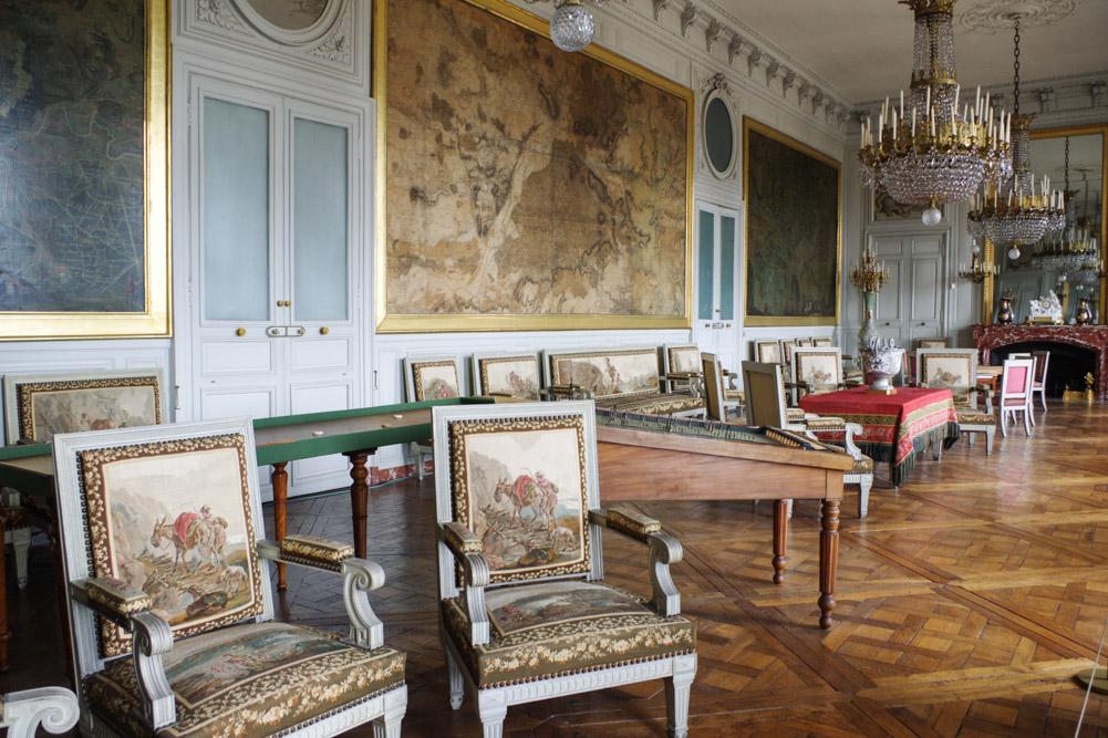 salon des cartes - château de Compiègne