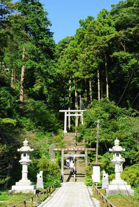 chemin grimpant derrière le temple Kencho-ji - Kamakura