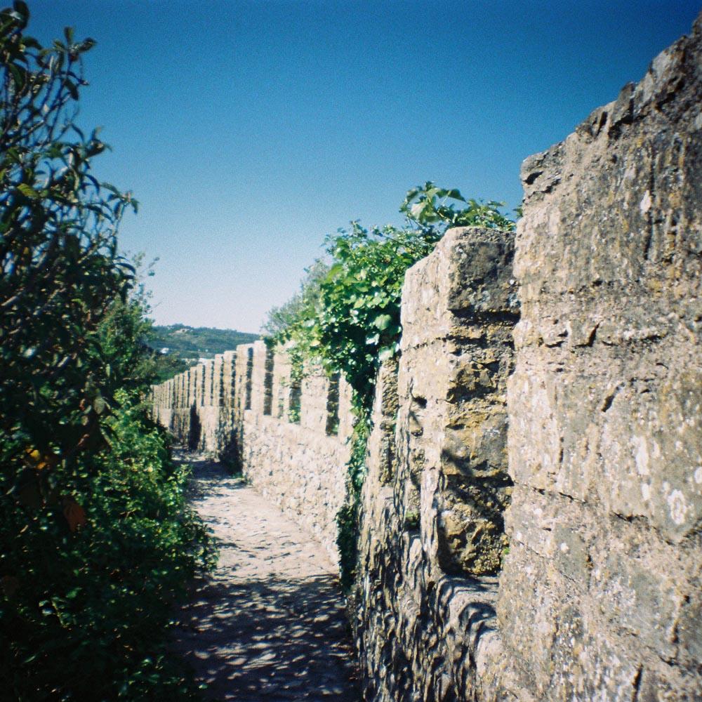 sur les remparts d'Obidos - Portugal