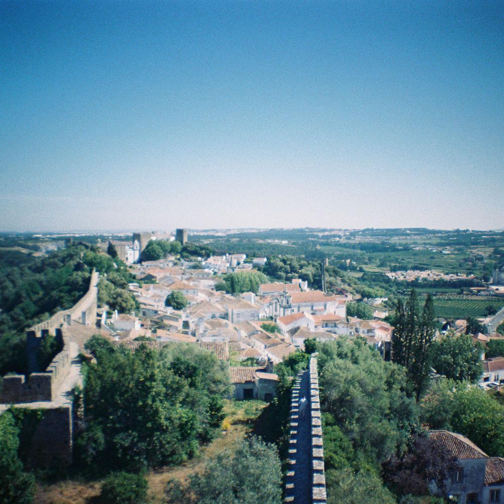 Panorama sur la ville d'Obidos