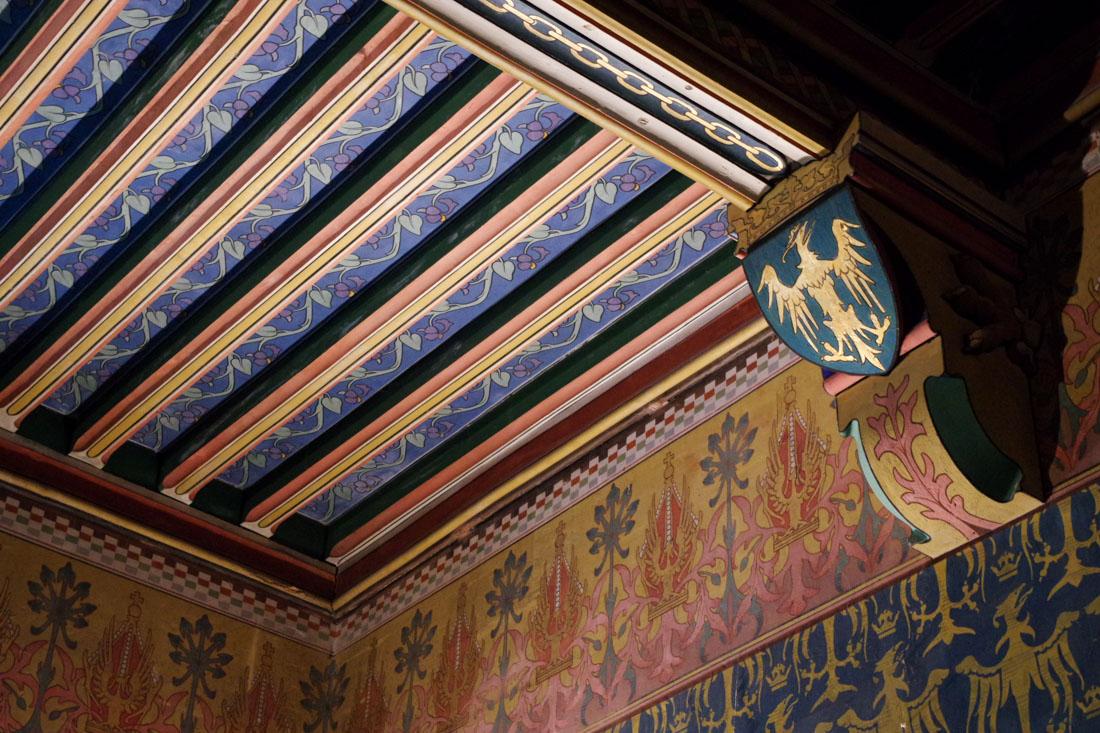 Plafond décoré du cabinet de travail - Château de Pierrefonds