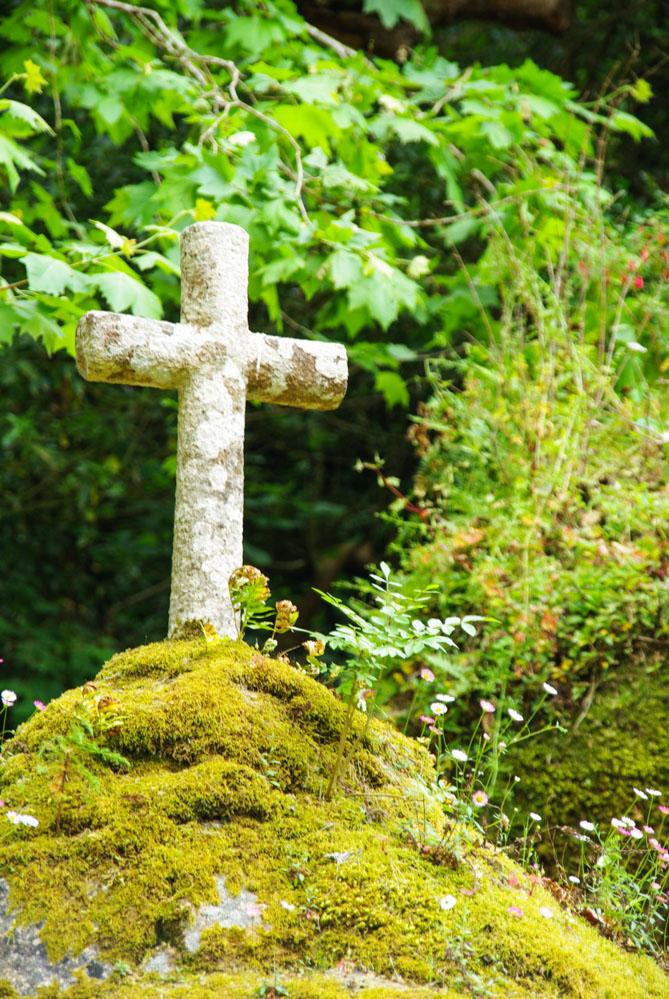 Croix à l'entrée du monastère des capucins