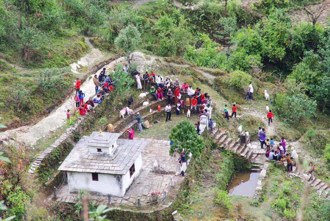 temple bouddhiste de Landruk au Népal