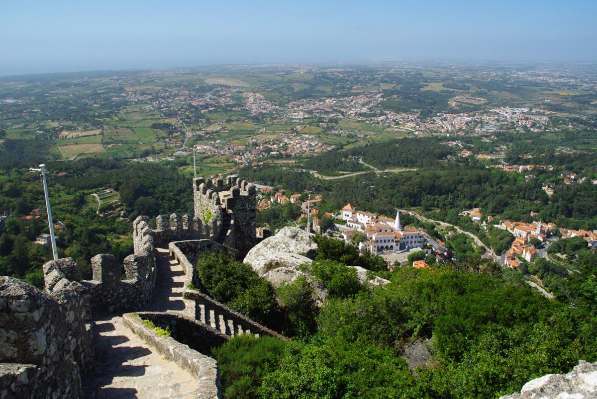 Panorama sur Sintra depuis le château des Maures