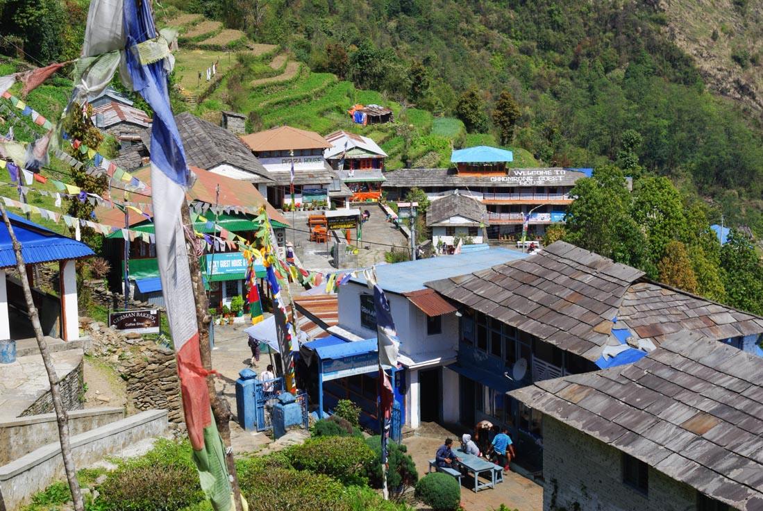 Village de Chomrong - Népal