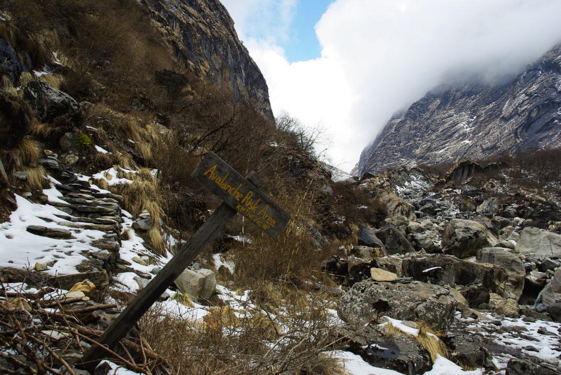 panneau risques d'avalanches
