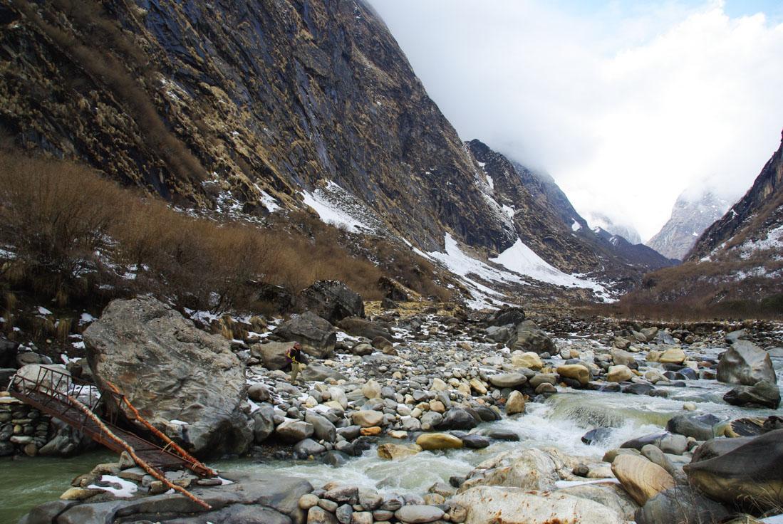 trek sanctuaire des Annapurnas, entre Deurali et MBC