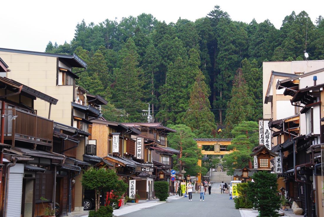 rue menant au sanctuaire Sakurayama