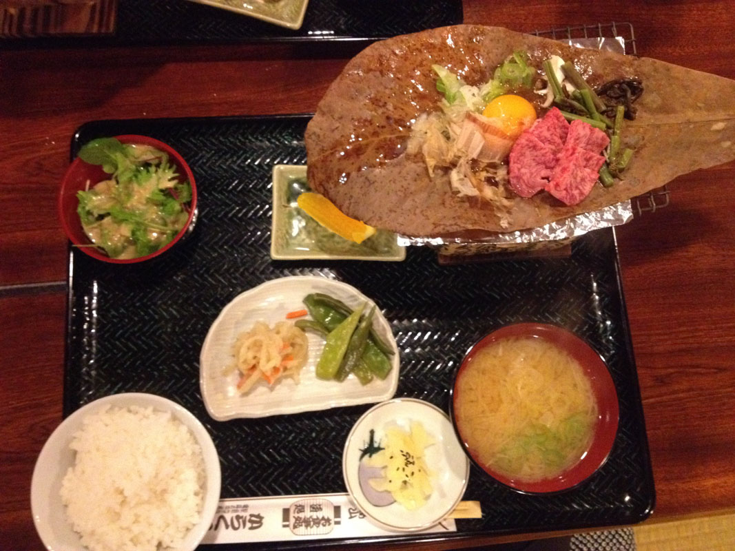 boeuf de hida dans un restaurant de grillade à Takayama