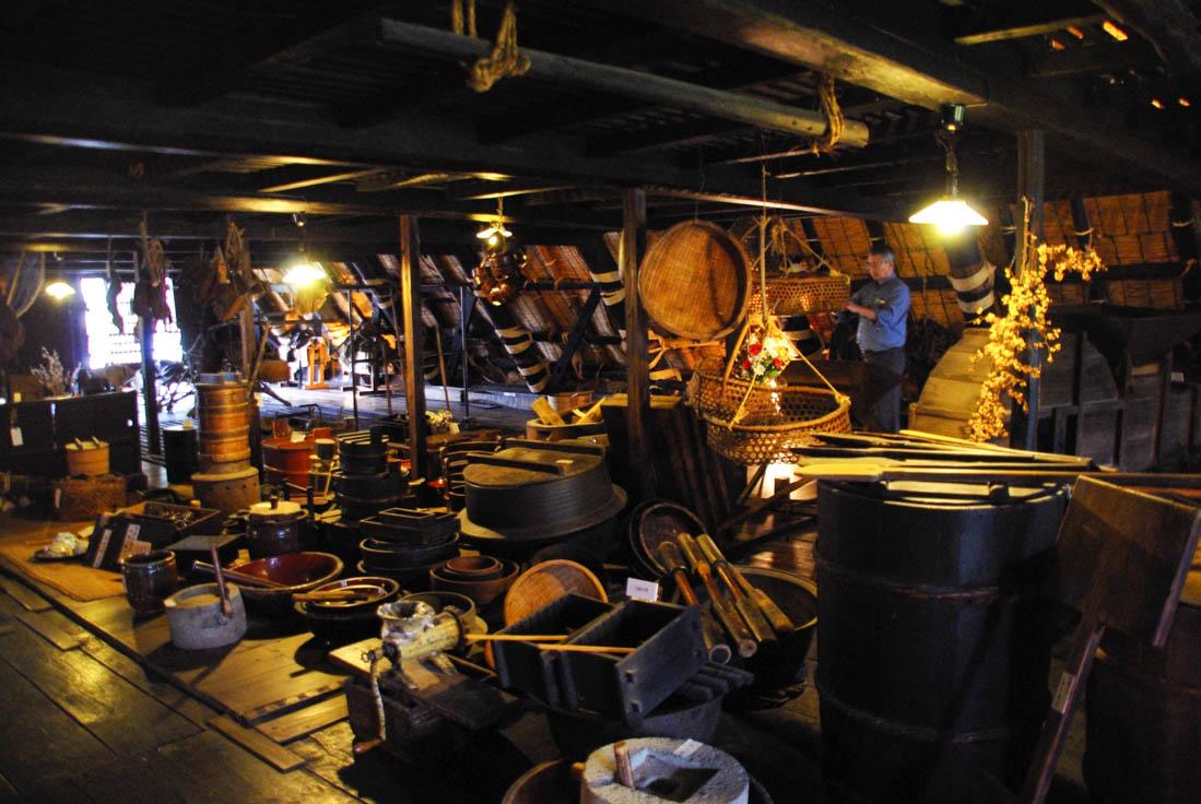 intérieur d'un grenier japonais