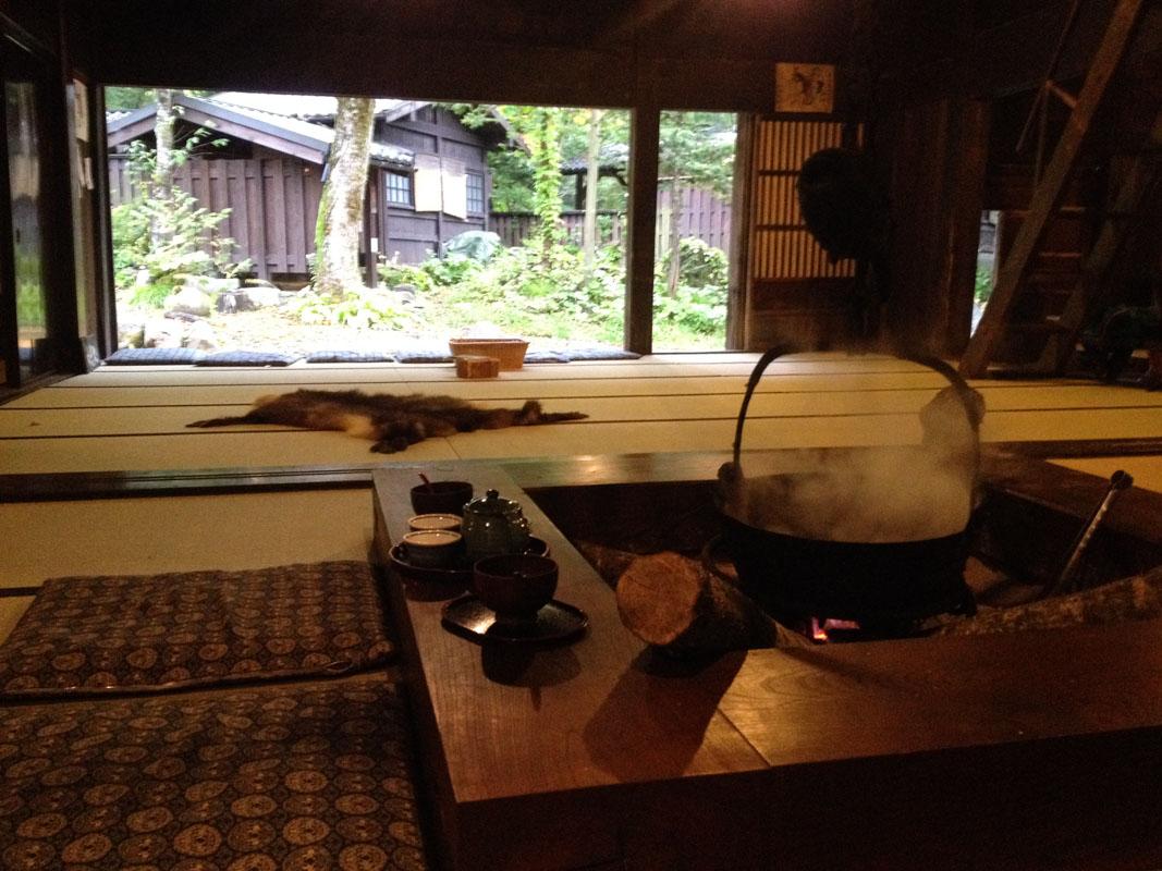 thé dans une maison traditionnelle japonaise