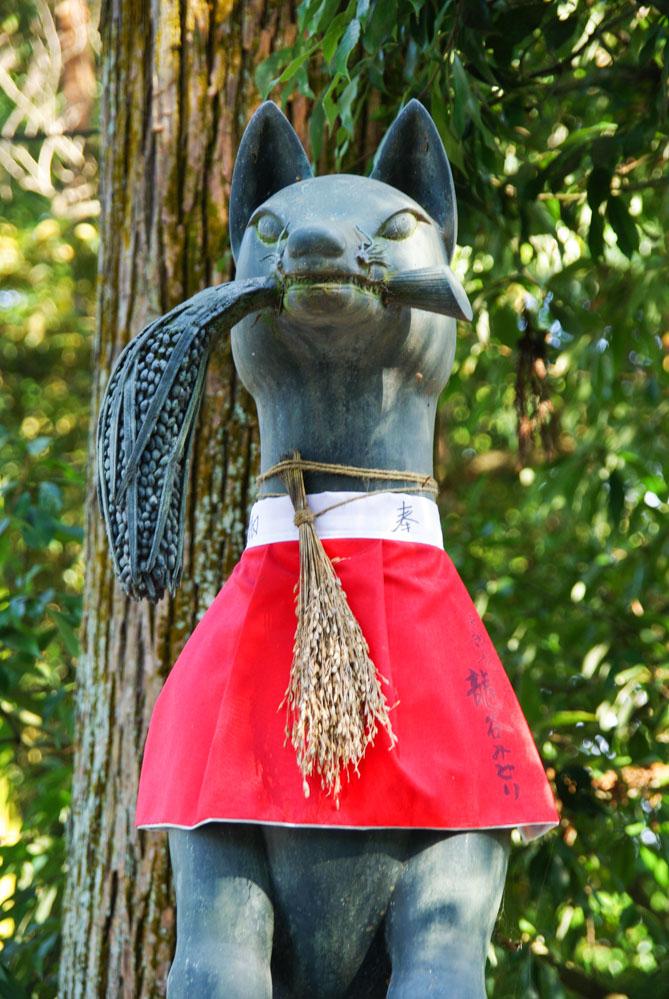 statue de renard - Fushimi Inari