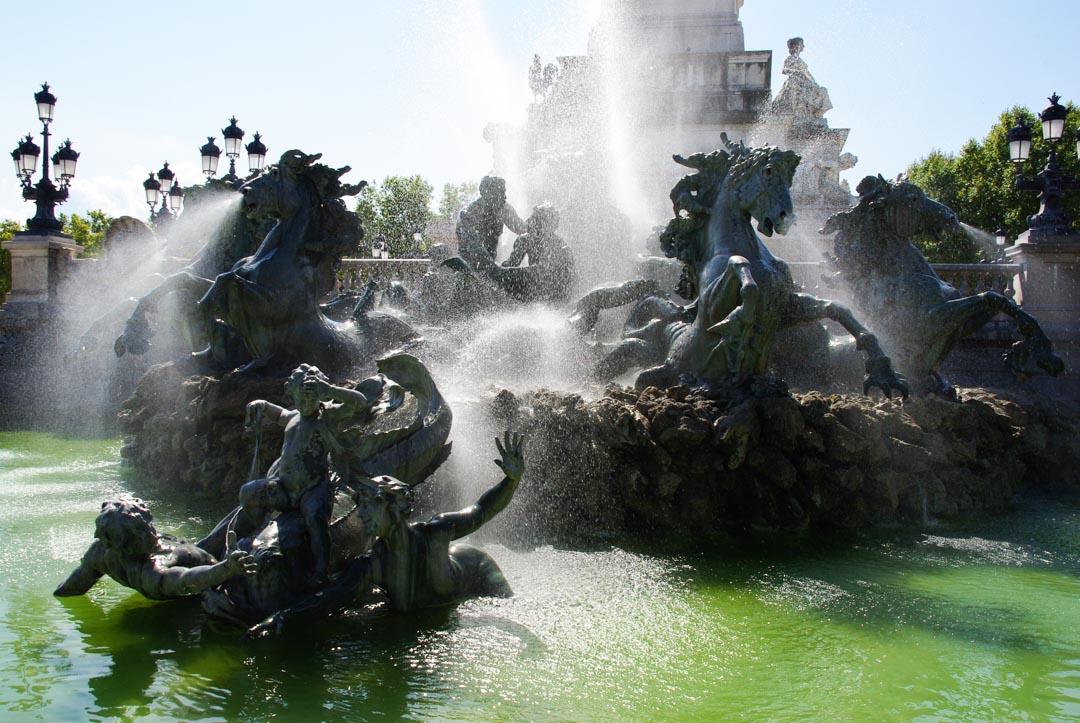 fontaine du monuments des Girondins - Bordeaux
