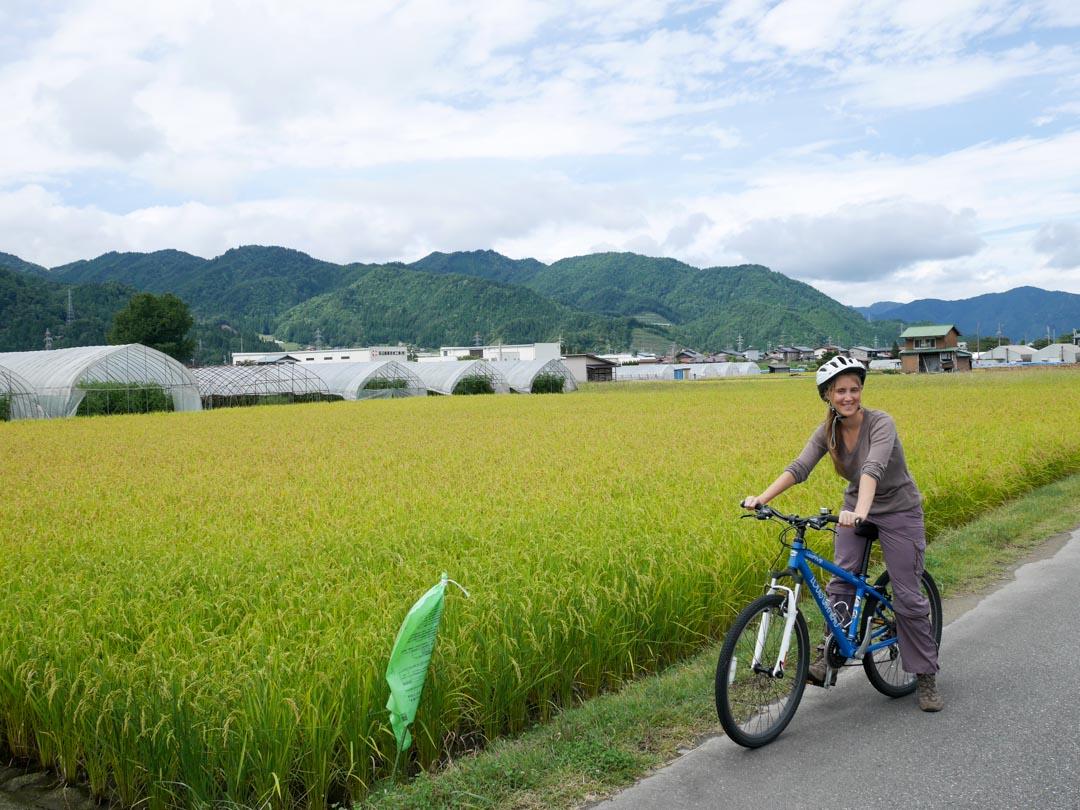 Balade à vélo dans les environs d'Hida Furukawa