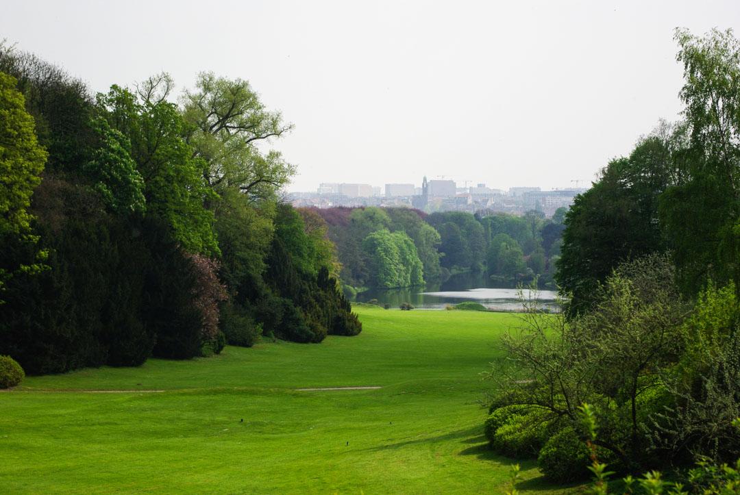Grande pelouse dans le parc de Laeken