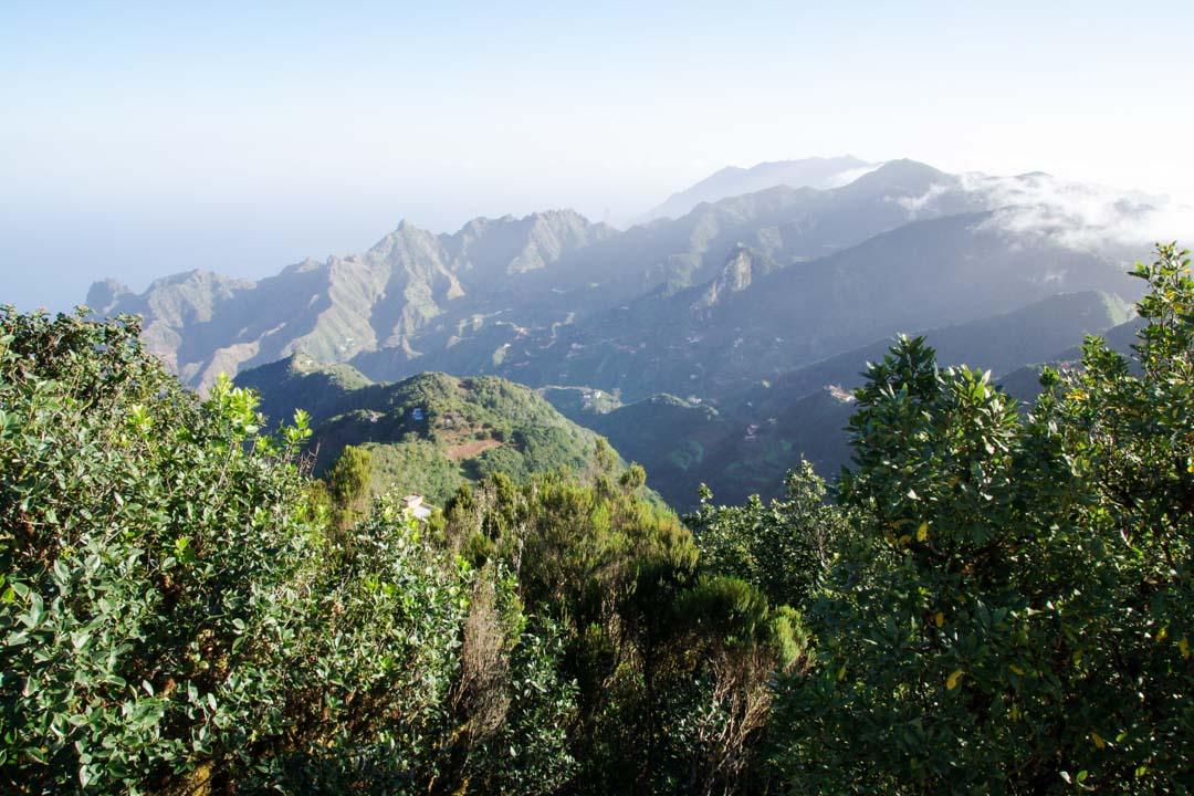 panorama sur l'Anaga depuis le pic des anglais