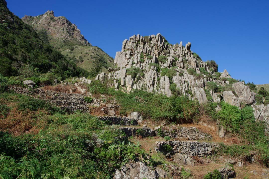 cultures en terrasses dans l'Anaga