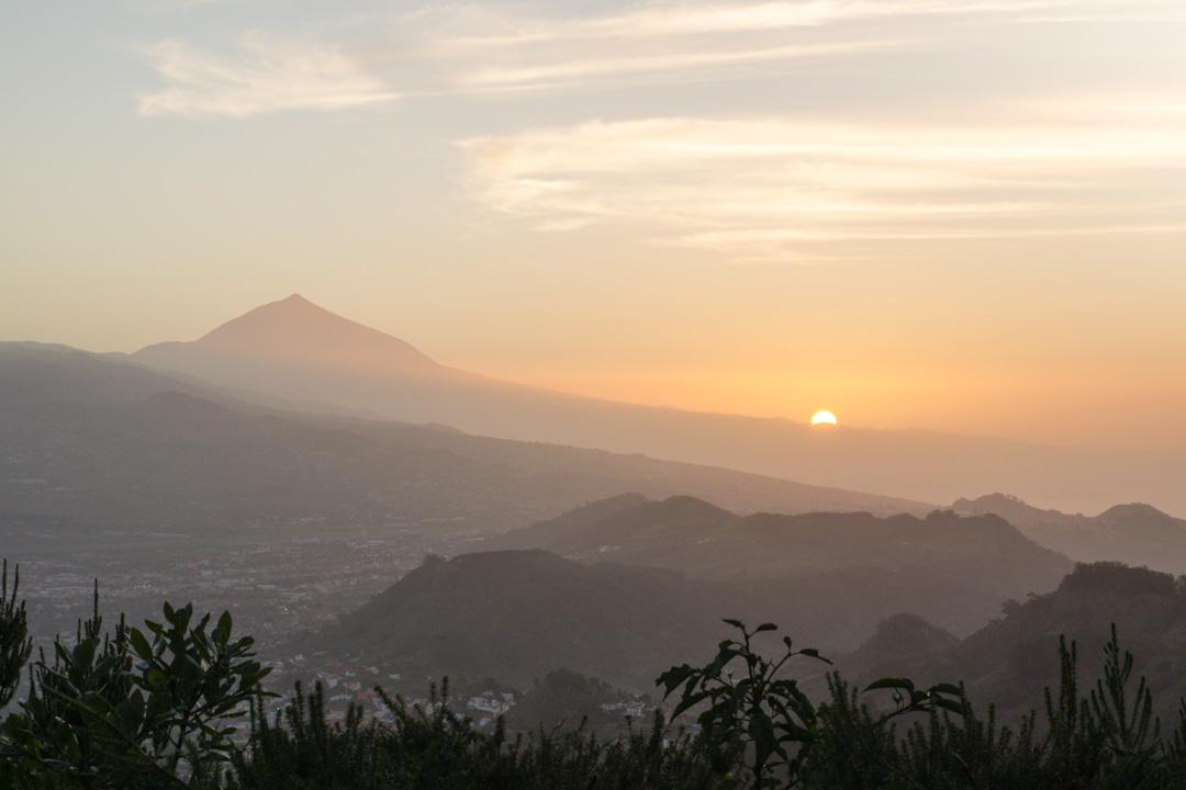 coucher du soleil sur le Teide