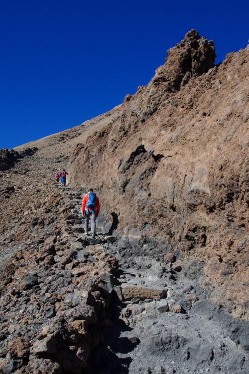 sur le chemin vers le sommet du Teide