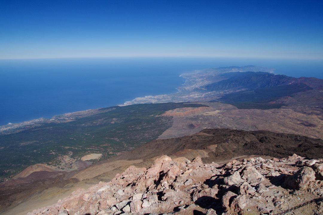 Panorama sur l'est de Tenerife jusqu'à l'Anaga