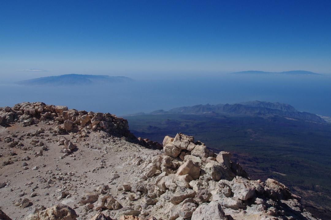 Panorama sur l'ouest de Tenerife : Teno et les autres iles des Canaries