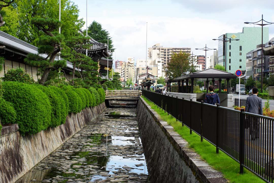 Abords du temple nishi hogan-ji