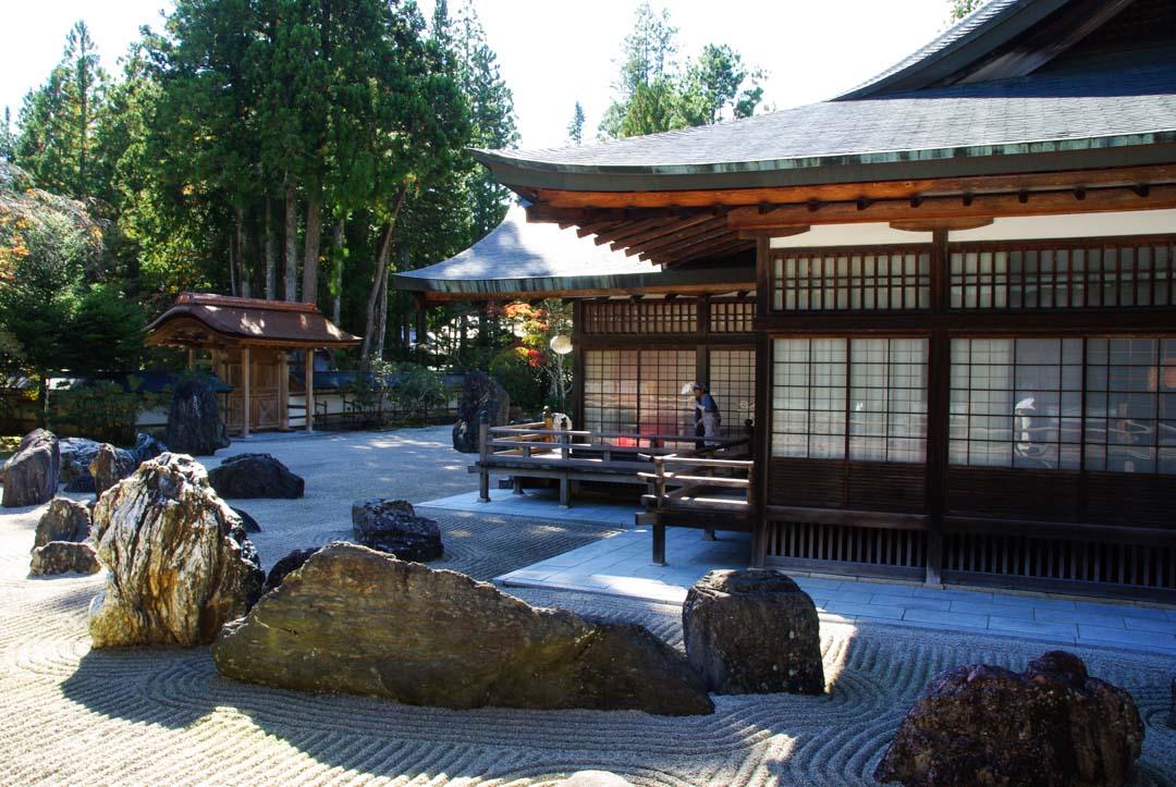 Jardin zen minéral du temple Kongobuji