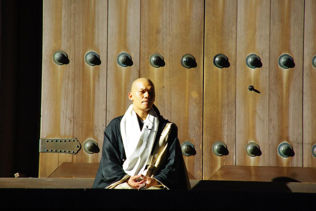 un moine boudhiste à Koya-San