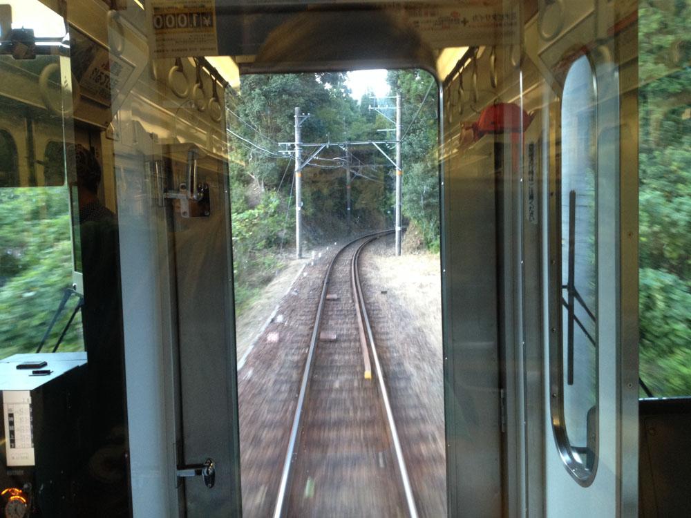 La ligne Koya Nankai Railway entre Hashimoto et Gokuraku-bashi