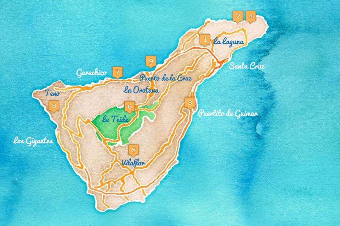 Itinéraire de 9 jours sur à Ténérife entre randonnée et patrimoine