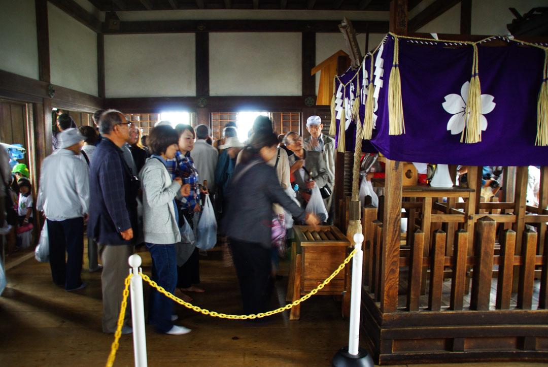 dernier étage du château d'Himeji