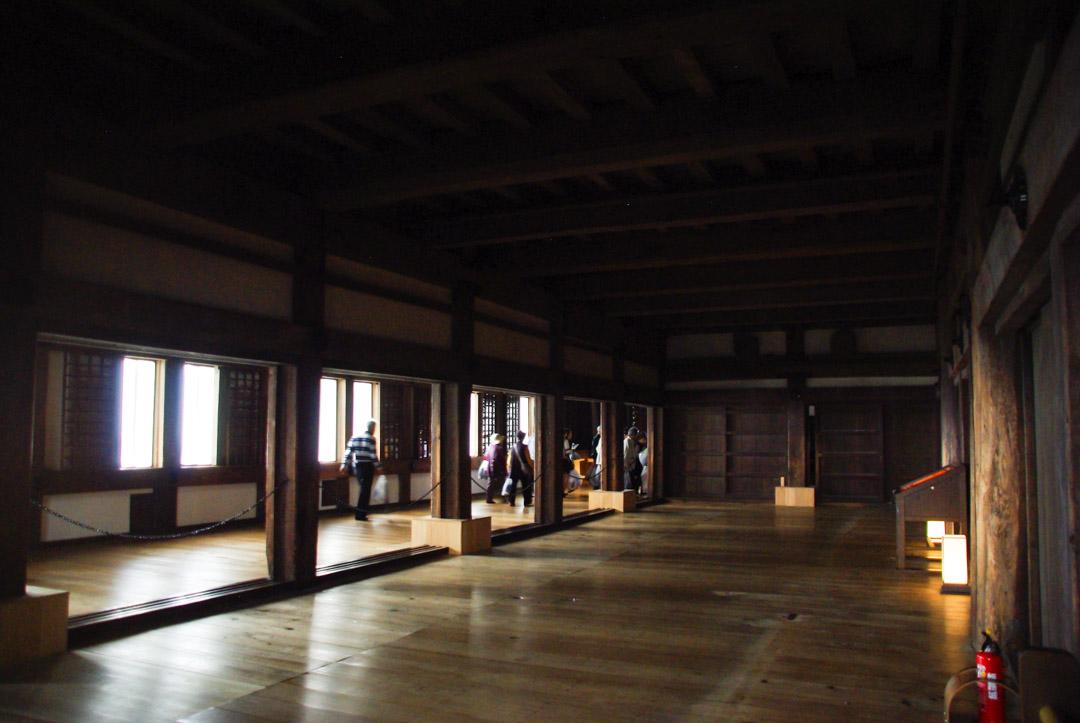 intérieur du château d'himeji