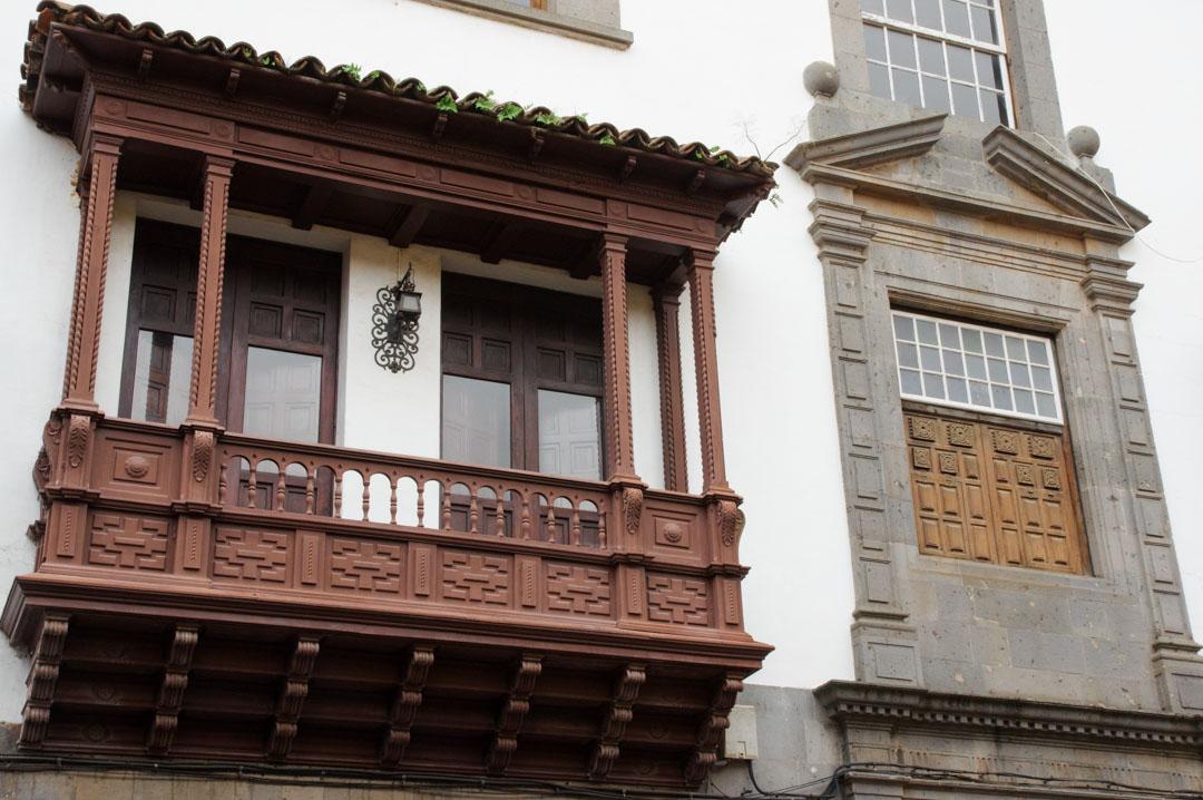 facade d'une maison canarienne - La Laguna