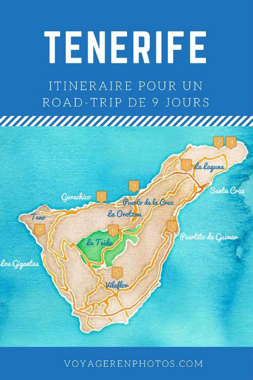 Itinéraire de 9 jours pour découvrir l'ile de Tenerife : randonnée et découverte du patrimoine de l'ile
