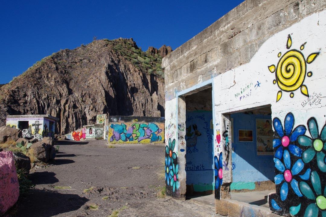 street art sur des batiments abandonnés