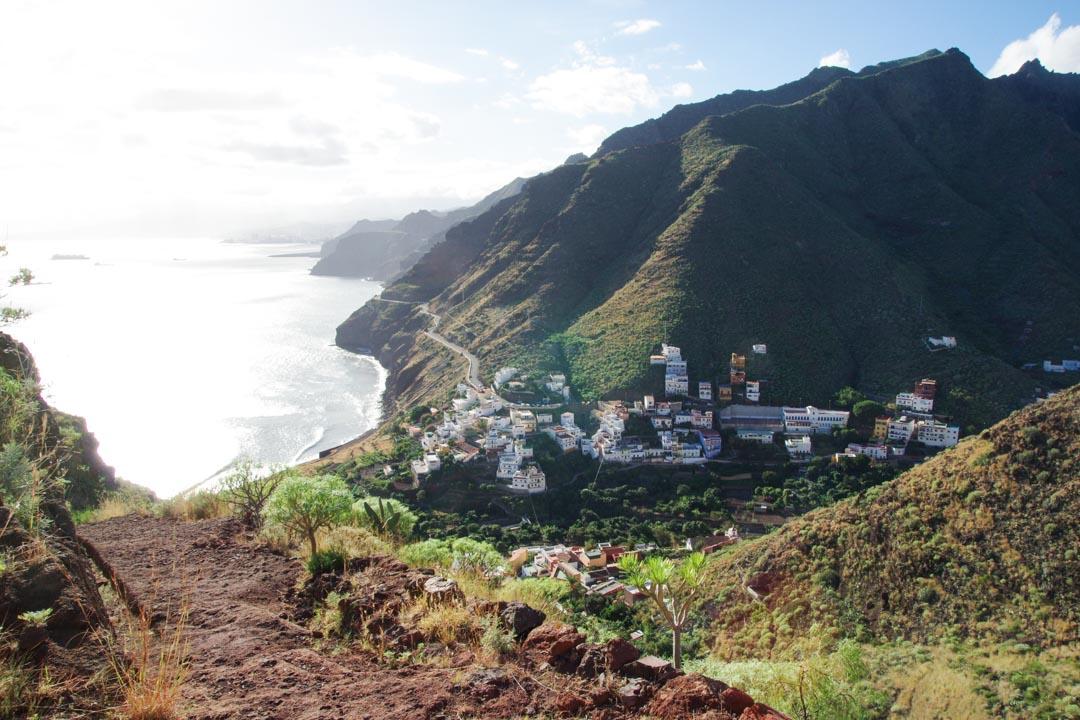 Panorama sur le village de San Andres - Tenerife