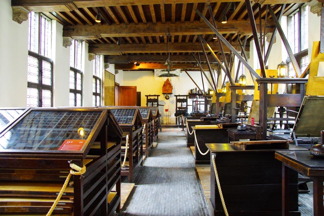 Salle des presses - maison Plantin Moretus - Anvers