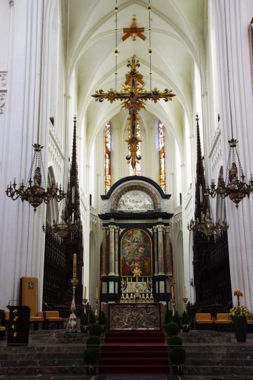 Nef de la cathédrale notre dame d'Anvers