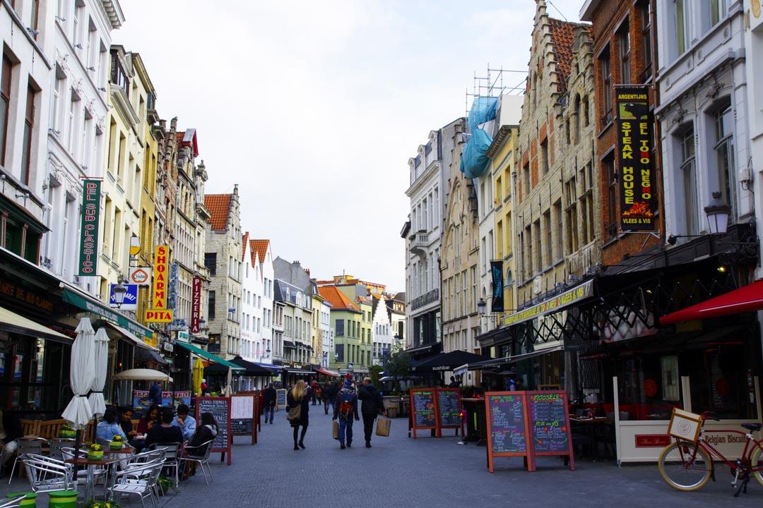 rue pietonne du centre historique d'Anvers