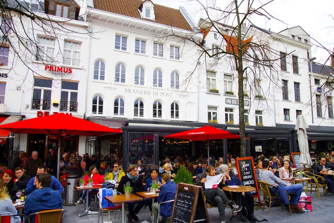 terrasse de café Groenplaats - Anvers