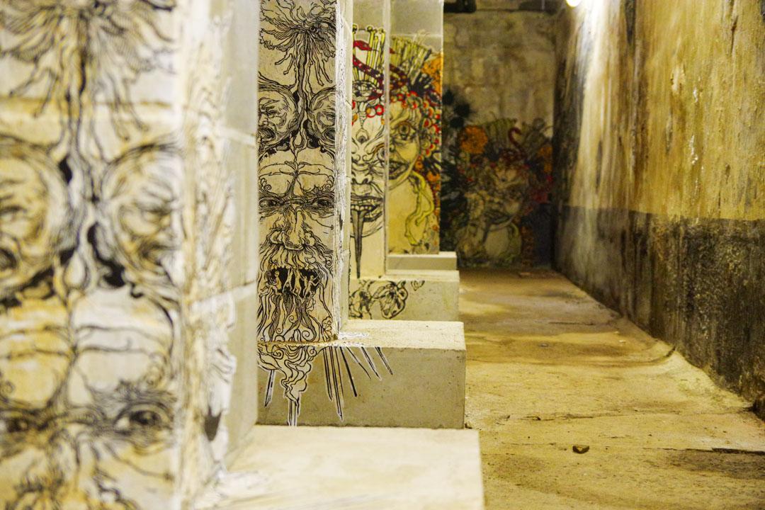 exposition dans la cave du MIMA