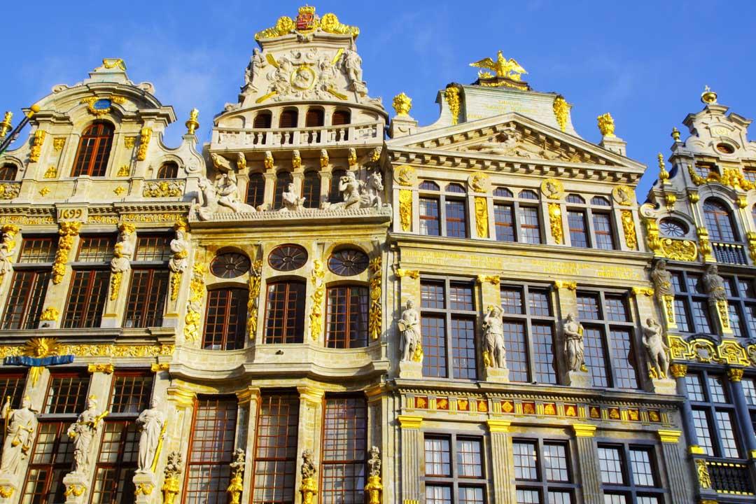 Façades des maisons des corporations - Grand place de Bruxelles