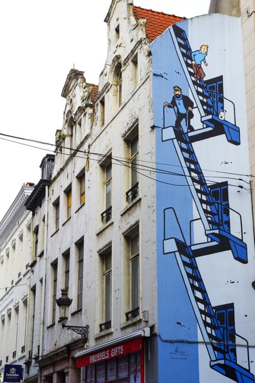 Façade BD Tintin - Bruxelles