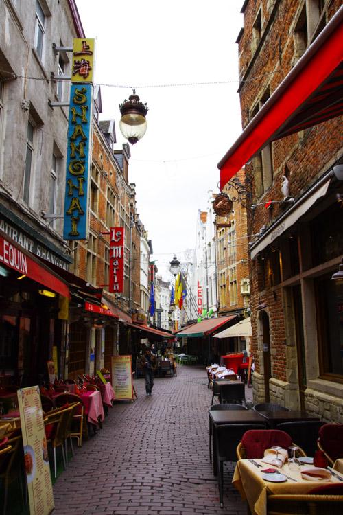 rue des bouchers - Bruxelles