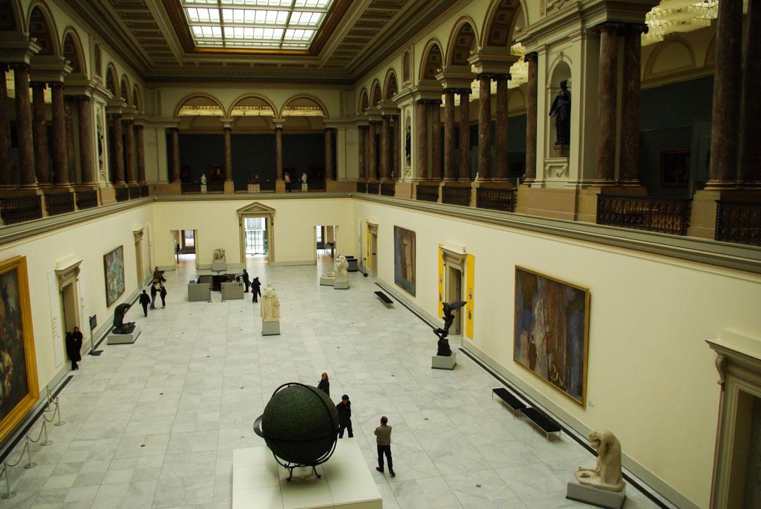 Intérieur du musée royal des Beaux Arts